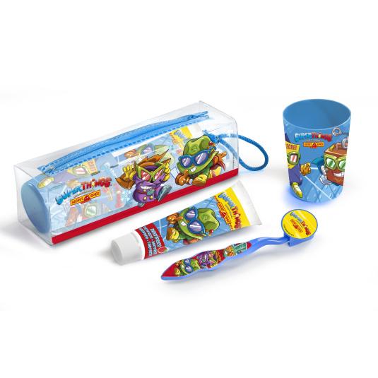 superzings kit de viaje cuidado bucal infantil