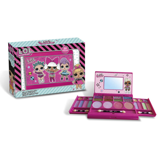lol surprise set de maquillaje infantil 30 piezas