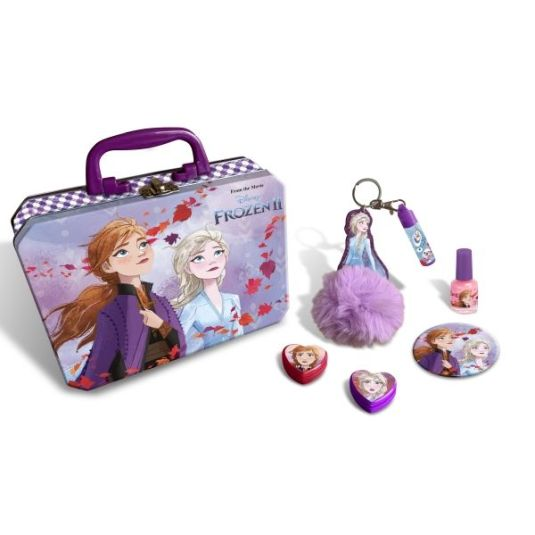frozen maletín metálico maquillaje infantil