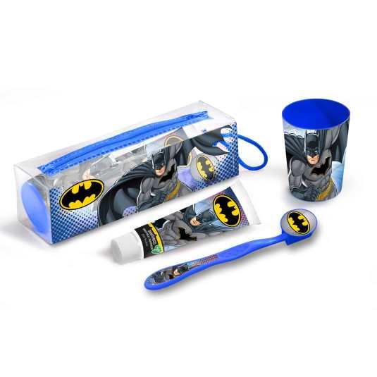 batman kit de viaje cuidado bucal infantil