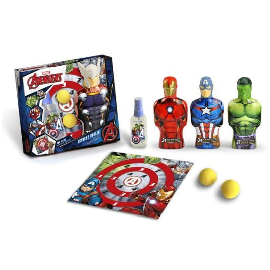 AVENGERS SET COLONIA 90 ML + GEL + JUEGO DIANA