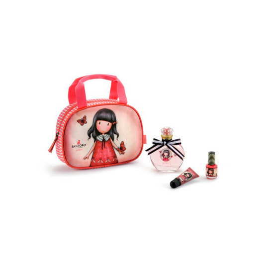 gorjuss time to fly set maquillaje infantil con bolso