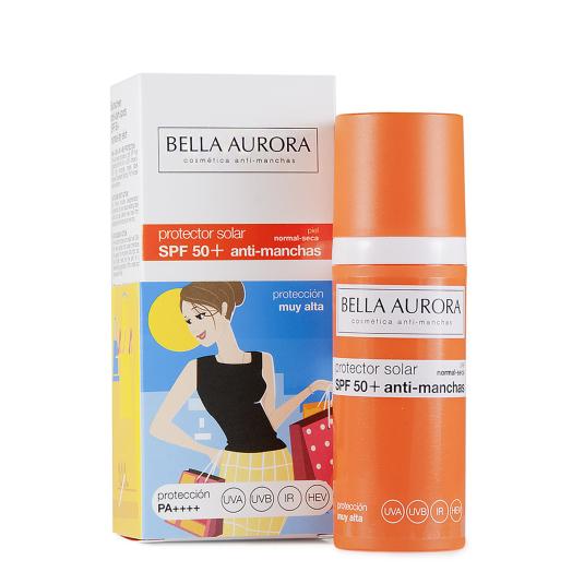 BELLA AURORA FOTOPROTECTOR FACIAL SPF50 FLUIDO PIEL SECA 50ML