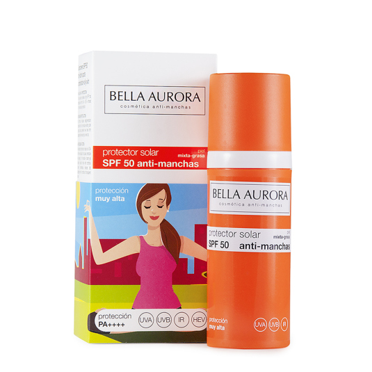 bella aurora fotoprotector facial spf50 antimanchas 50ml
