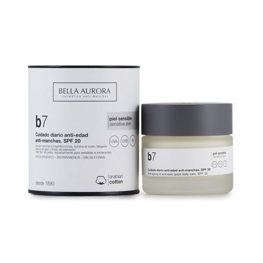 bella aurora b7 crema antimanchas piel sensible spf20 50ml