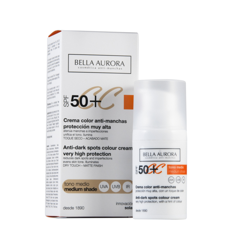 bella aurora cc cream spf50 antimanchas fotoprotectora 30ml