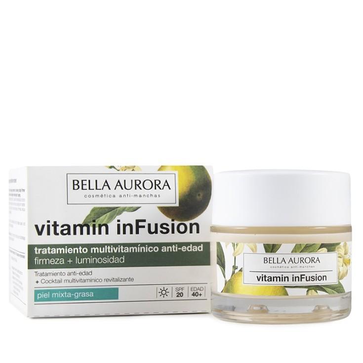 bella aurora vitamin infusion tratamiento multivitamínico antiedad piel mixta-grasa