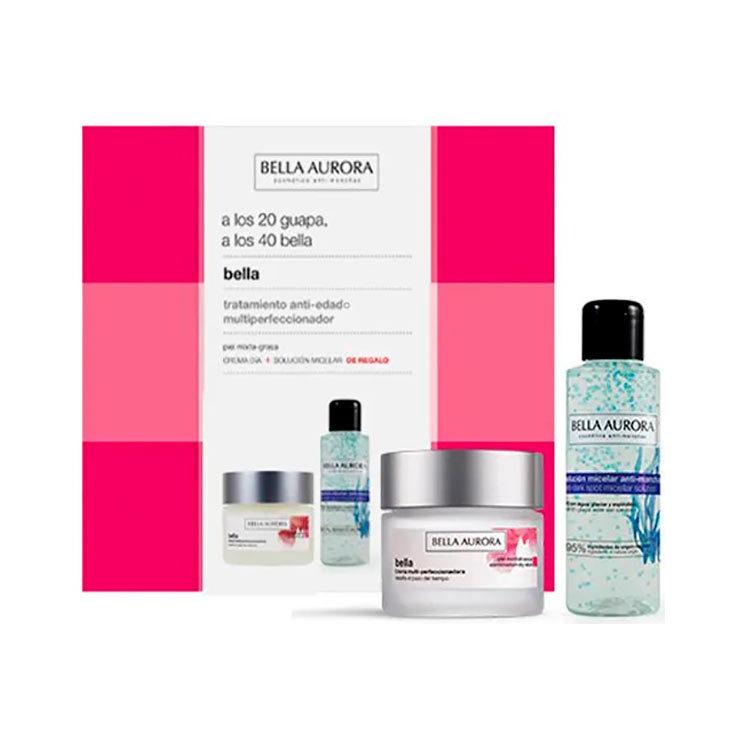 bella aurora pack crema dia spf20 piel seca 50ml + solucion micelar anti-manchas 100ml