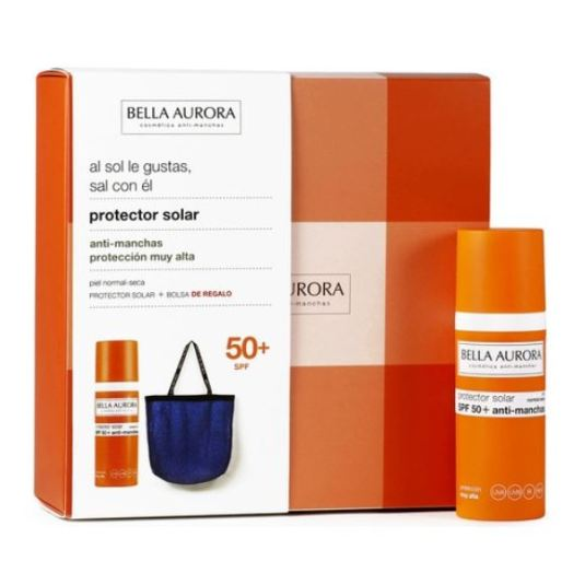 bella aurora protector solar facial p. normal-seca spf50+ 50ml+ bolso regalo