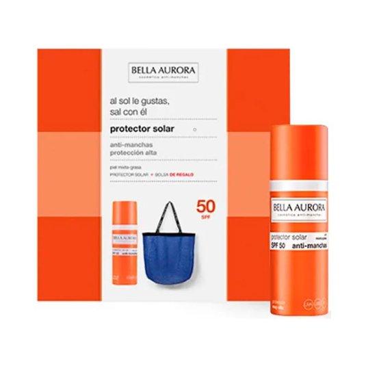 bella aurora protector solar facial p. mixta-grasa spf50+ 50ml+ bolso regalo