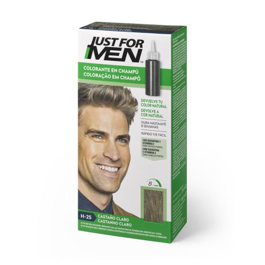 just for men colorante en champu castaño claro 30ml