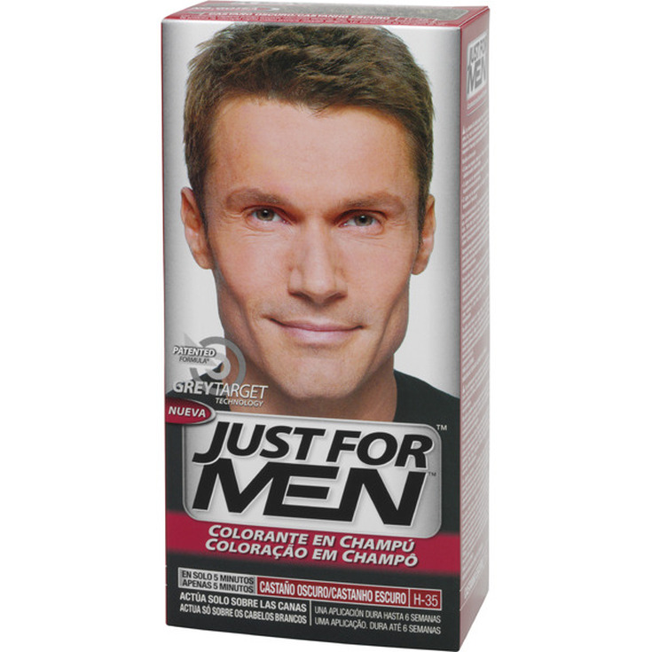 just for men colorante en champu castaño oscuro 30ml
