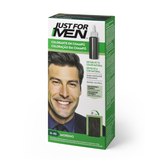 just for men colorante en champu moreno natural 30ml