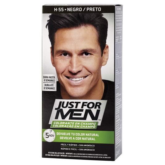 just for men colorante en champu negro natural 30ml