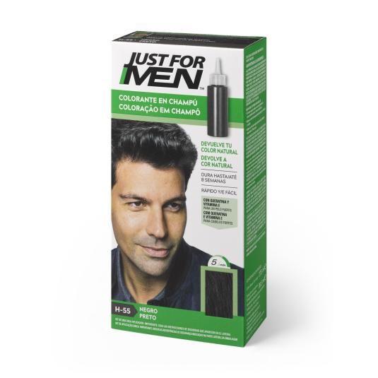 just for men colorante en champu negro natural 30ml