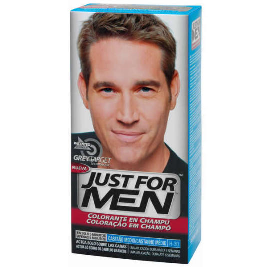 just for men colorante en champu castaño medio 30ml