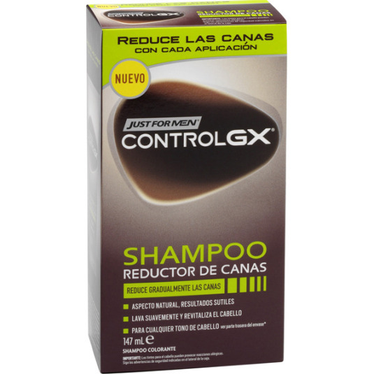 just for men control gx champu colorante reductor de canas 147ml