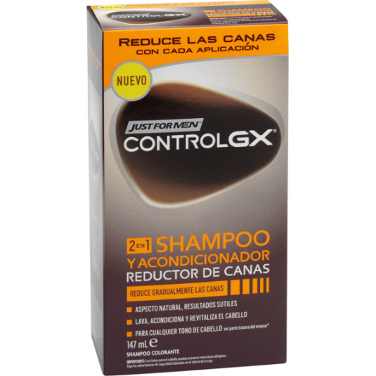 just for men control gx champú/acondicionador reductor de canas 147ml