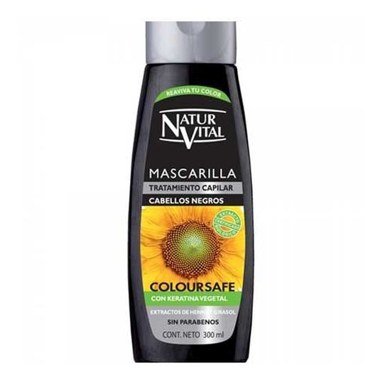 natur vital mascarilla color cabellos negros 300ml