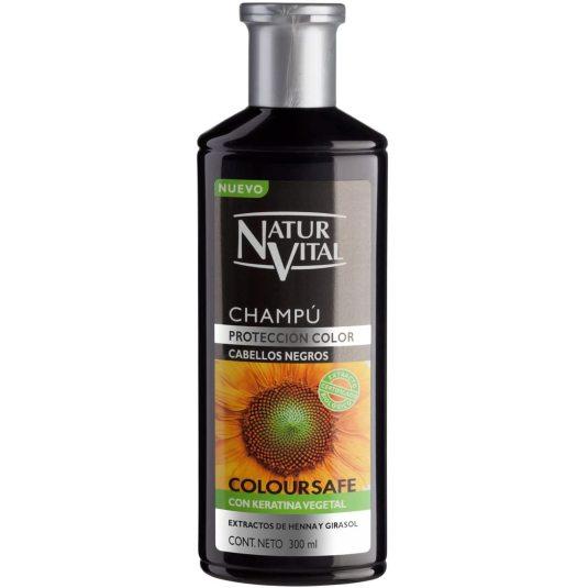 naturvital coloursafe champu cabellos negros 300ml