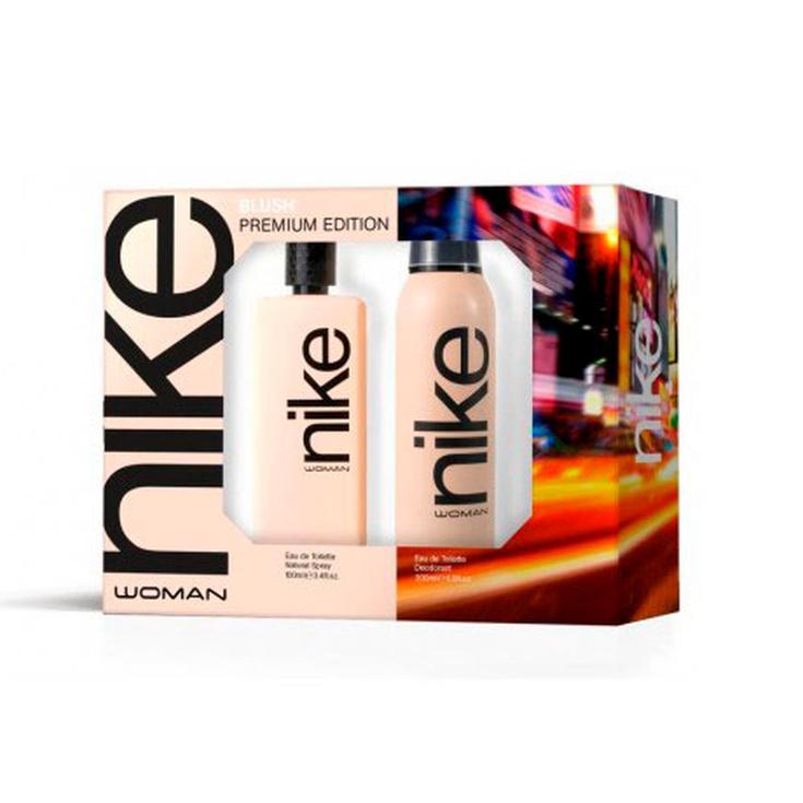 nike woman blush premium edition estuche eau de toilette 2 piezas