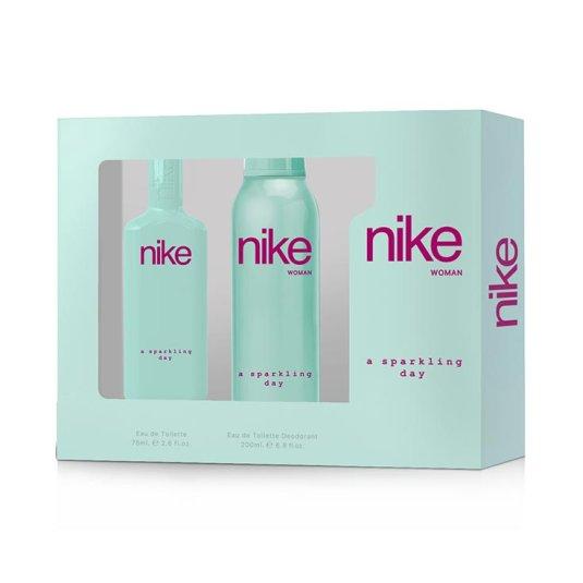 nike woman sparkling day estuche eau de toilette 2 piezas