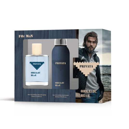 privata organic blue for man estuche eau de toilette 2 piezas