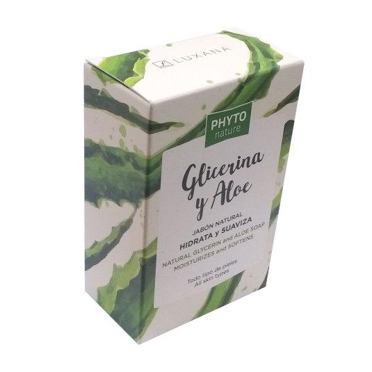 phyto nature pastilla jabón natural con aloe vera y glicerina hidrata y suaviza 120g
