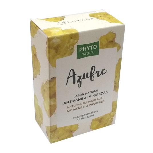 phyto nature pastilla jabón natural azufre anti-acné e impurezas 120g