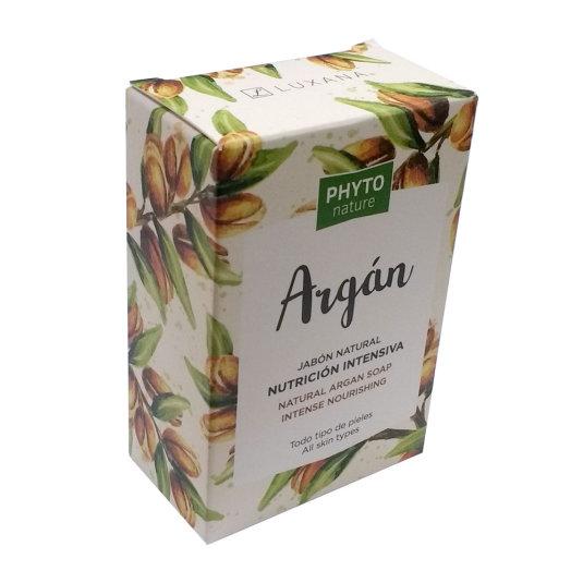 phyto nature pastilla jabón natural aceite de argán hidratación intensa 120g