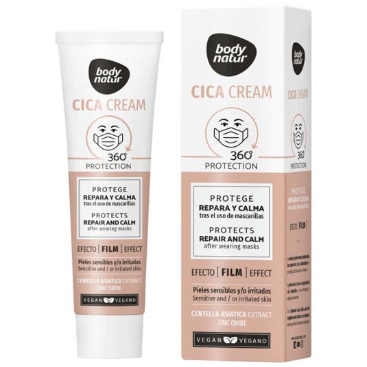 body natur cica cream crema reparadora piel del rostro uso mascarillas 40ml