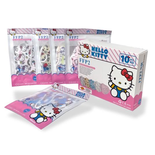 mascarilla ffp2 nr infantil hello kitty caja 10 unidades