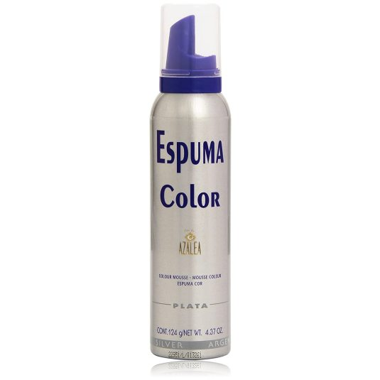 azalea espuma con color temporal plata 150ml