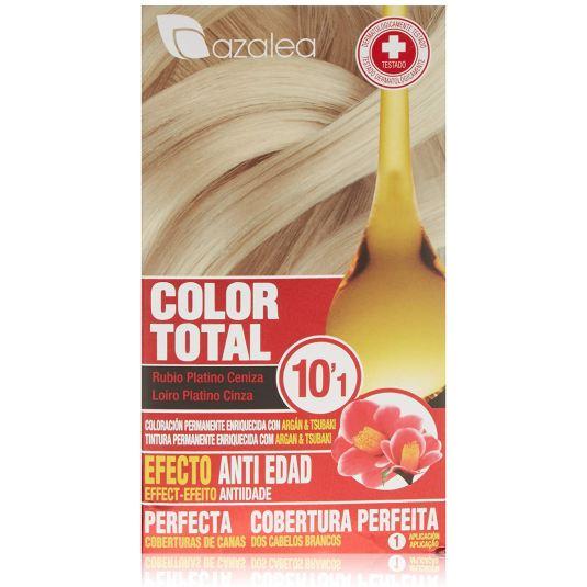 azalea total tinte capilar permanente color 10.1 rubio platino ceniza