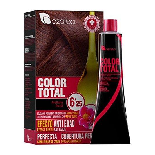 azalea total tinte capilar permanente color 6.25 avellana