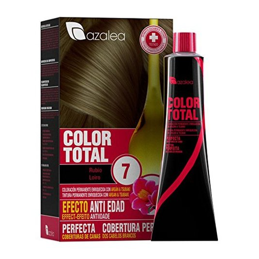 azalea total tinte capilar permanente color 7 rubio