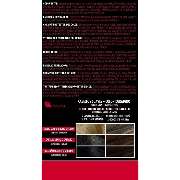 azalea total tinte capilar permanente color 7.1 rubio ceniza