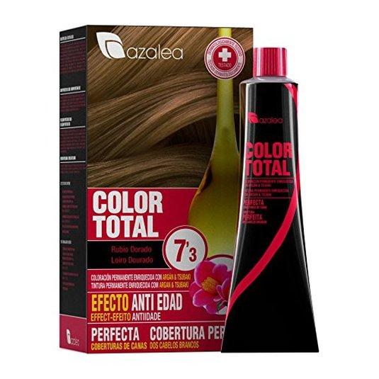 azalea total tinte capilar permanente color 7.3 rubio dorado