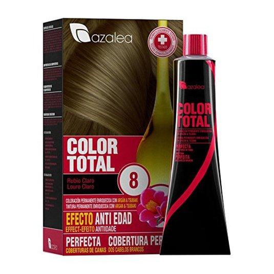 azalea total tinte capilar permanente color 8 rubio claro