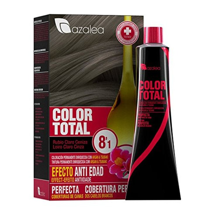 azalea total tinte capilar permanente 8.1 rubio claro ceniza