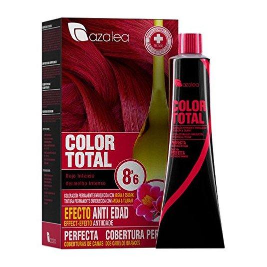 azalea total tinte capilar permanente color 8.6 rojo intenso