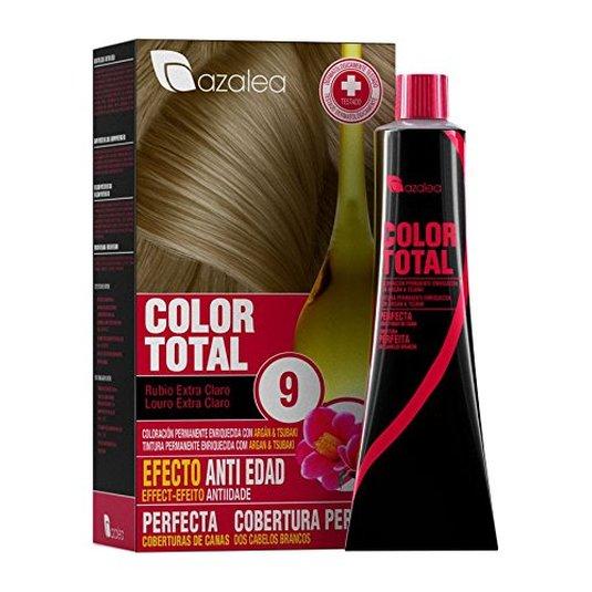 azalea total tinte capilar permanente 9 rubio extra claro