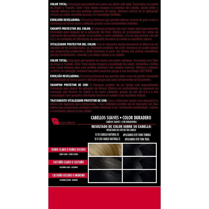 azalea total tinte capilar permanente color 3 castaño oscuro