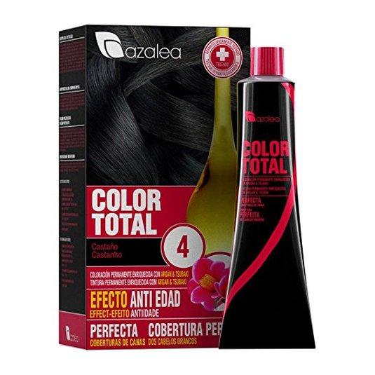 azalea total tinte capilar permanente color 4 castaño