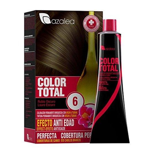 azalea total tinte capilar permanente color 6 rubio oscuro