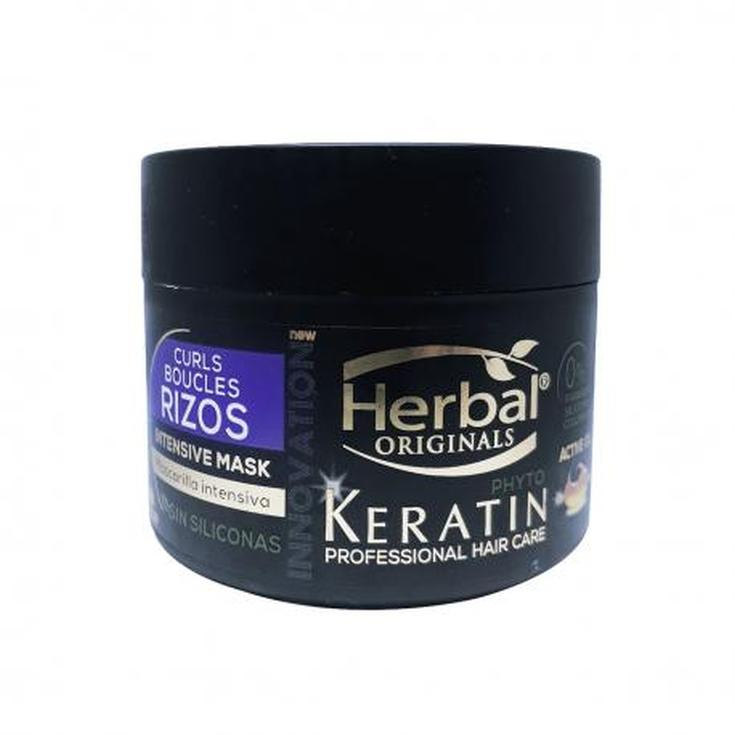 herbal originals phyto-keratin proffesional hair care mascarilla rizos intensiva 300 ml