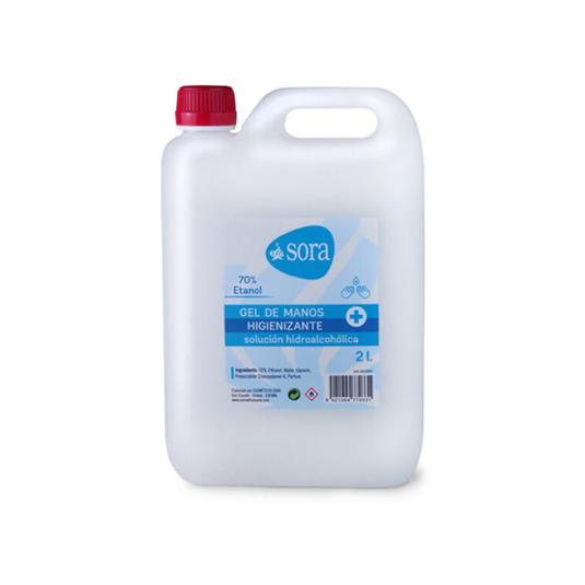 sora gel manos higienizante garrafa 2 litros