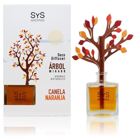 SYS mikado ambientador arbol 3d naranja-canela 90ml