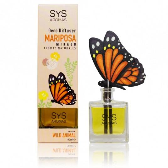 SYS mikado ambientador 3d mariposa wild animal 90ml