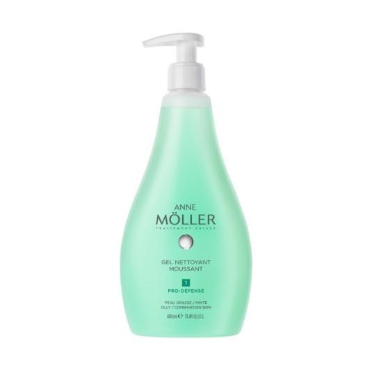 anne moller gel nettoyant moussant gel limpiador 400ml